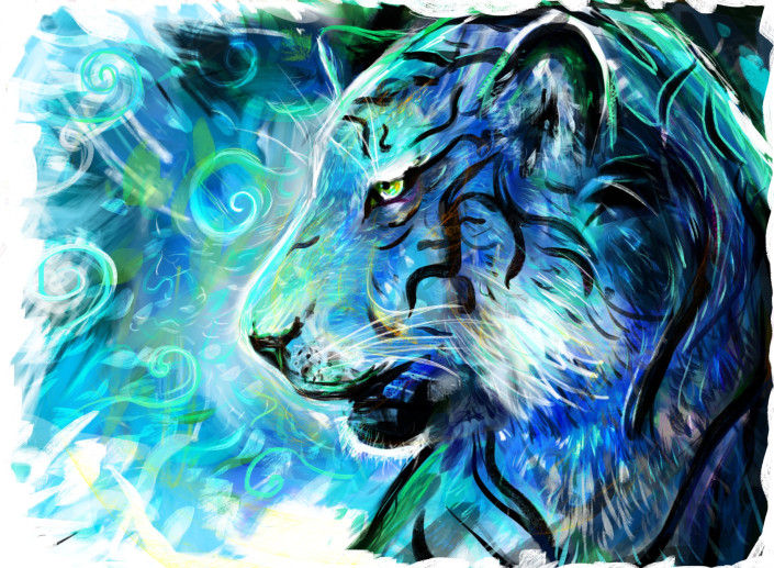 Project Blue Tiger Louis Dyer Visionary Digital Artist