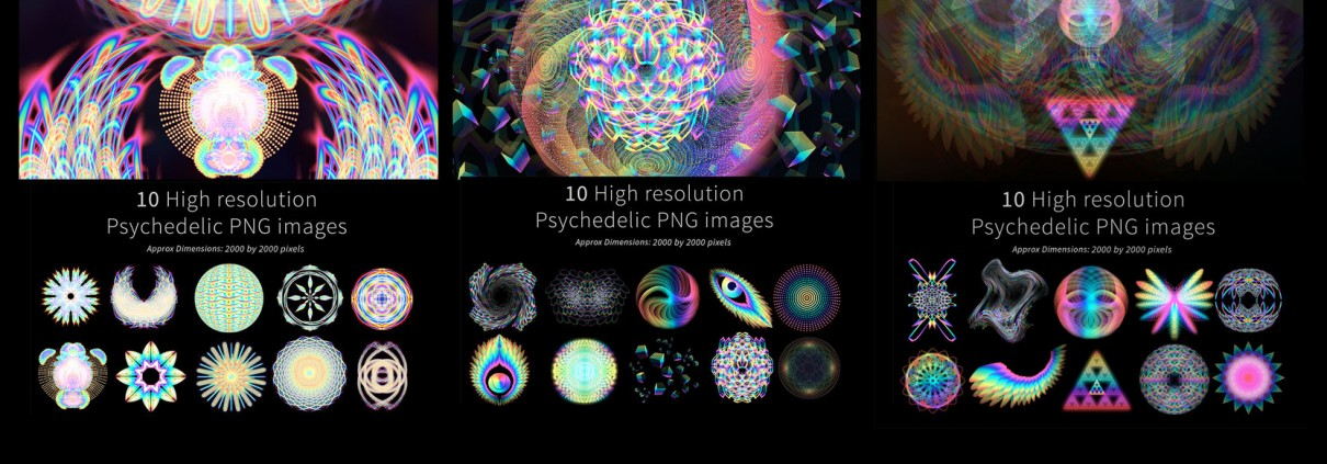 FREE psychedelic stock imagery - Louis Dyer Digital Visionary Artist: louisdyer.com/free-psychedelic-stock-imagery