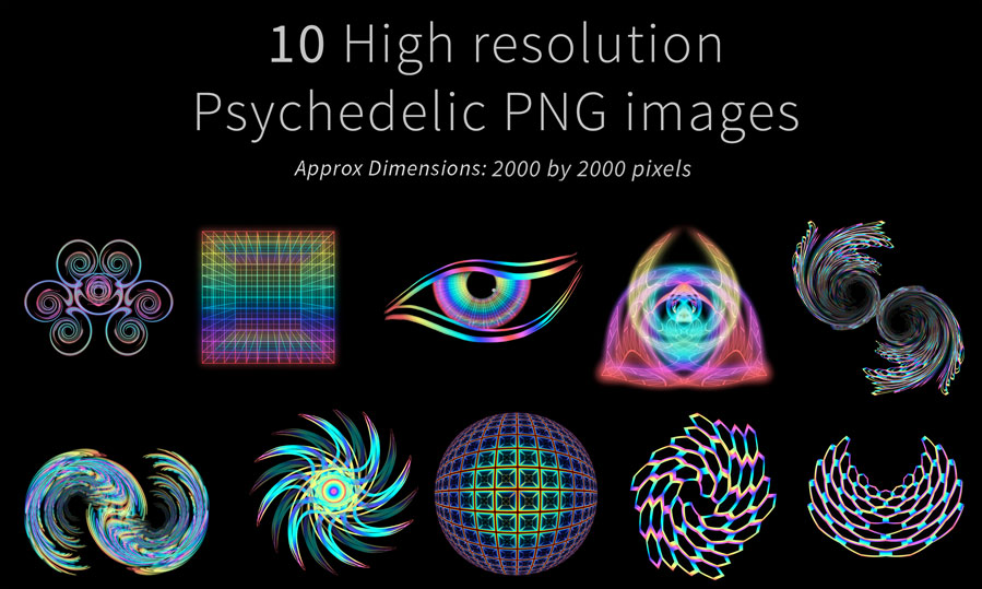 Psychedelic stock imagery pack 6 - Louis Dyer Digital Visionary Artist: louisdyer.com/portfolio-item/psychedelic-stock-imagery-pack-6