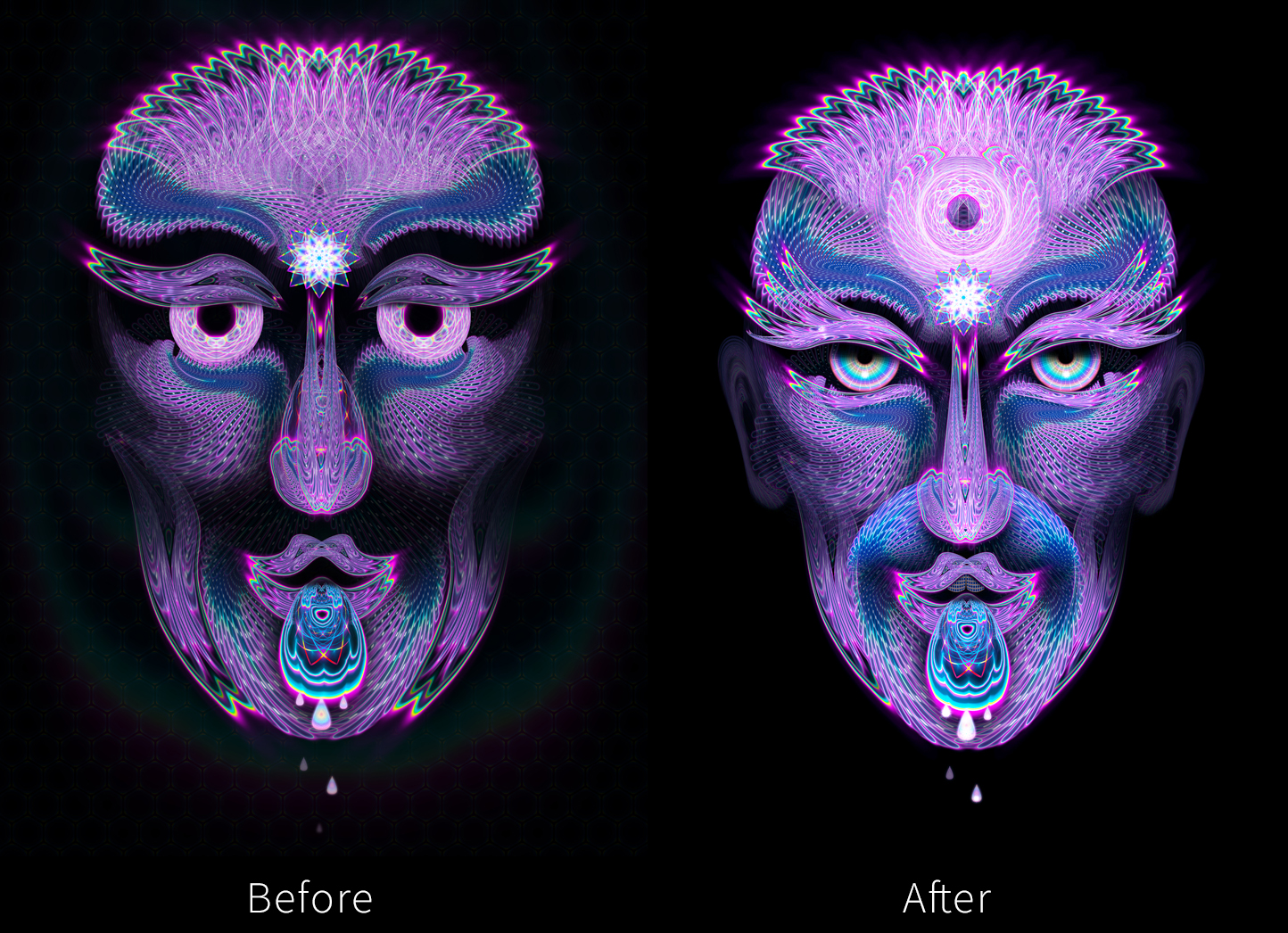 pushing your work before and after image
