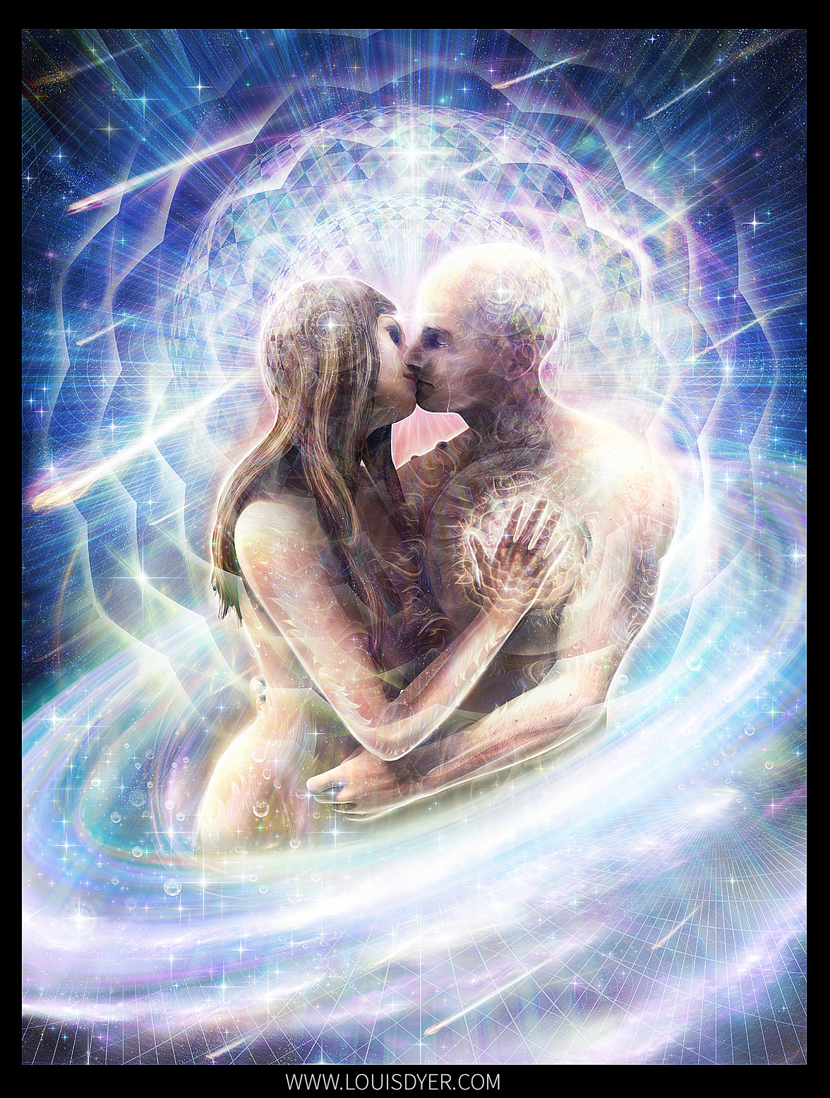 Divine Love Louis Dyer Visionary Digital Artist