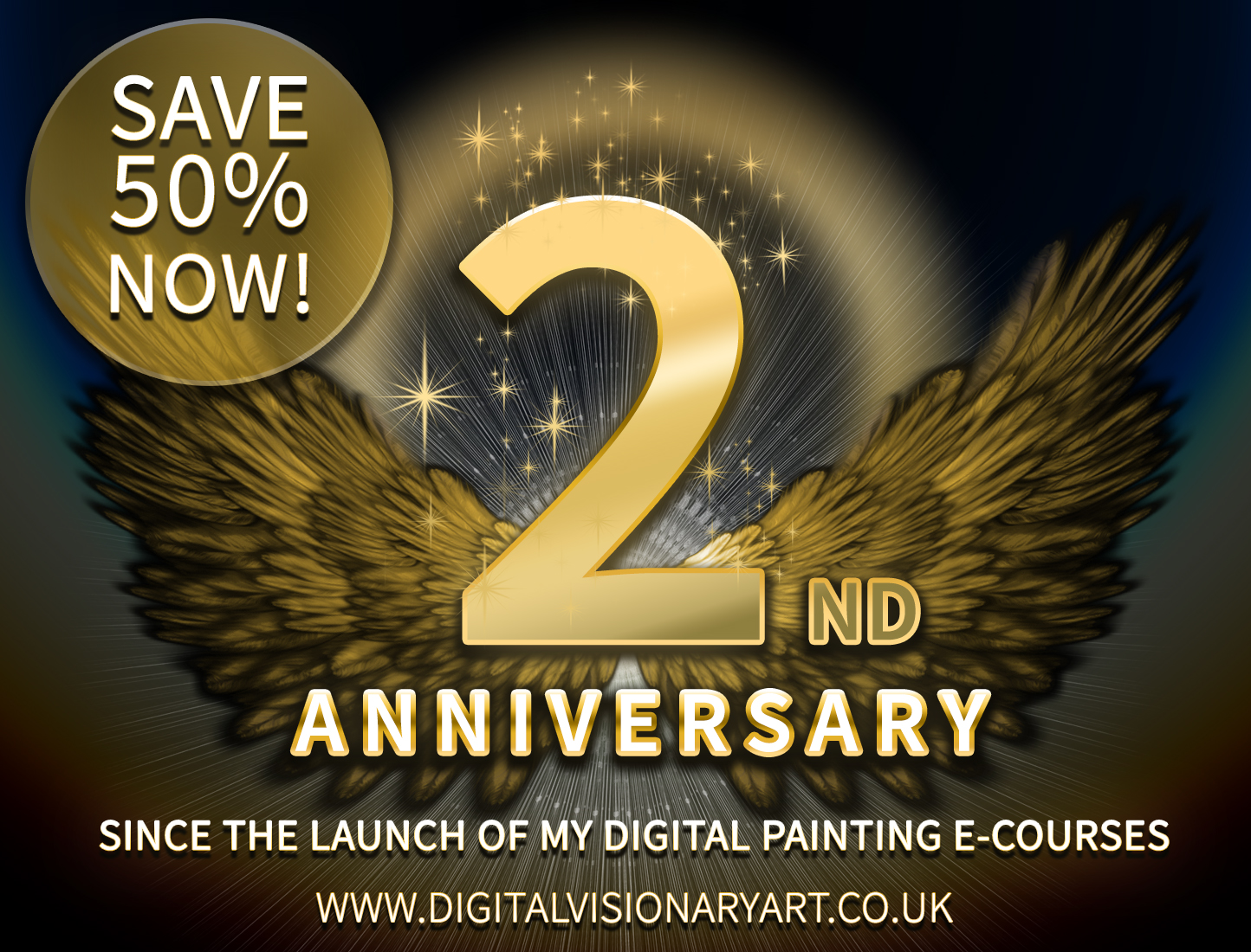 Save 50 On My E Courses 2nd Year Anniversary Louis Dyer Visionary Digital Artist,Types Of Hamsters Breed